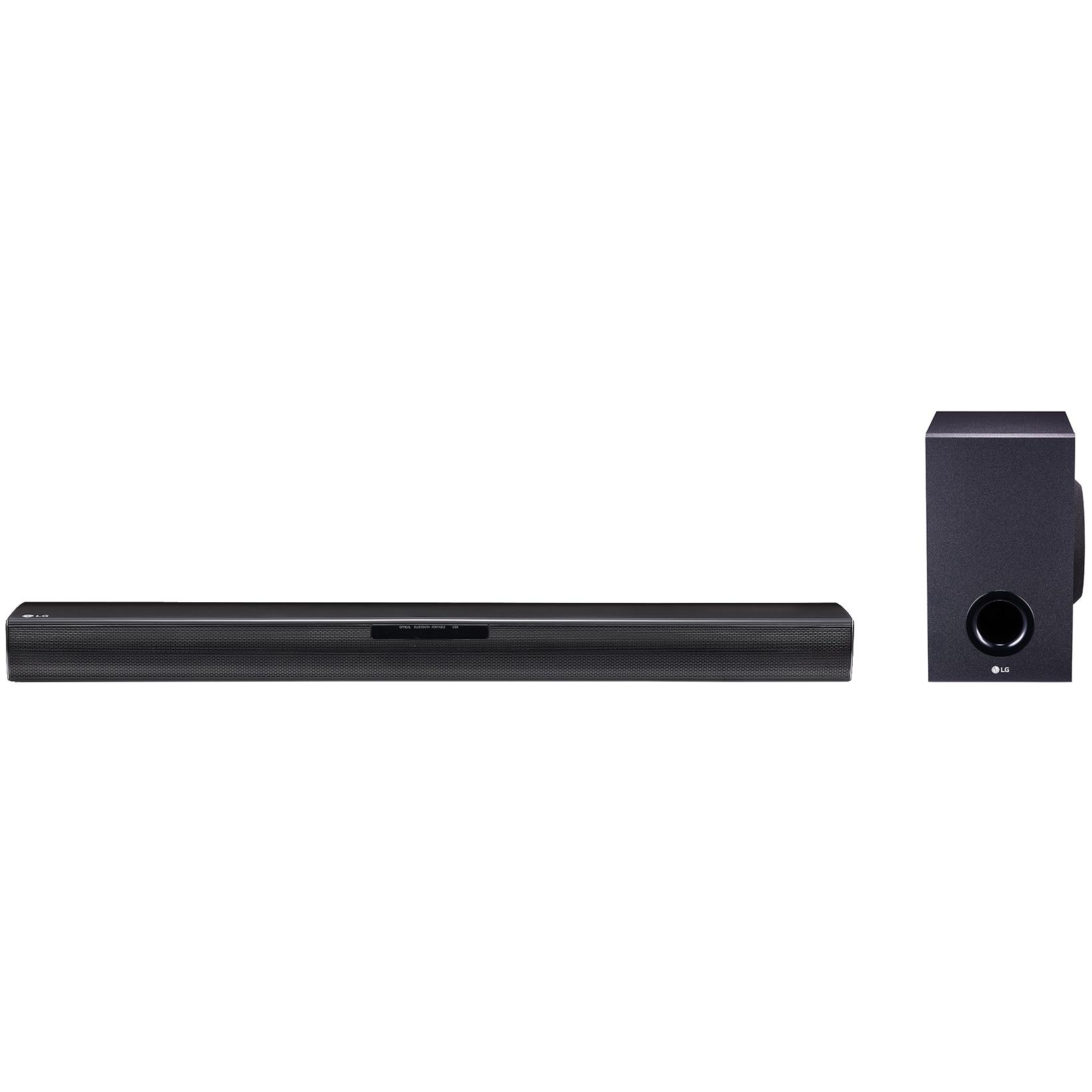 Fotografie Soundbar LG SJ2, 160W, 2.1, Bluetooth,Wireless Subwoofer, Negru