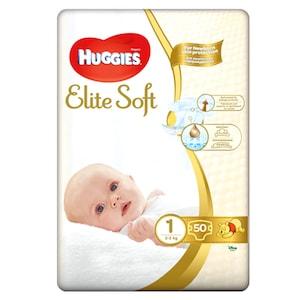 Scutece Huggies Elite Soft 1, 3-5 kg, 50 buc