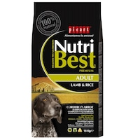 Hrana uscata pentru caini Nutribest Adult, Miel si Orez, 15 kg