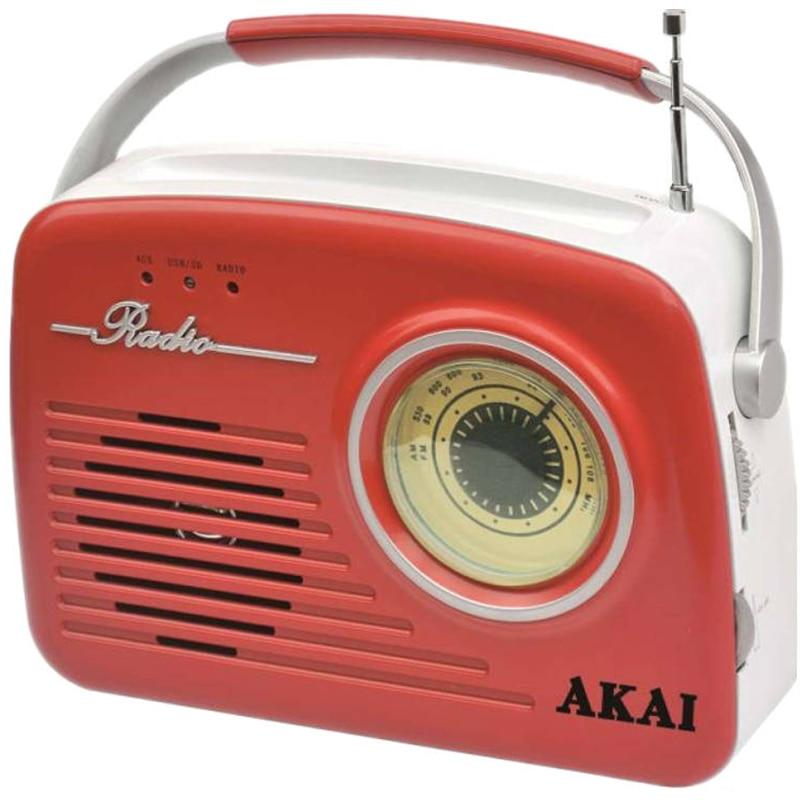Fotografie Radio Akai APR-11R, USB, SD card, Rosu