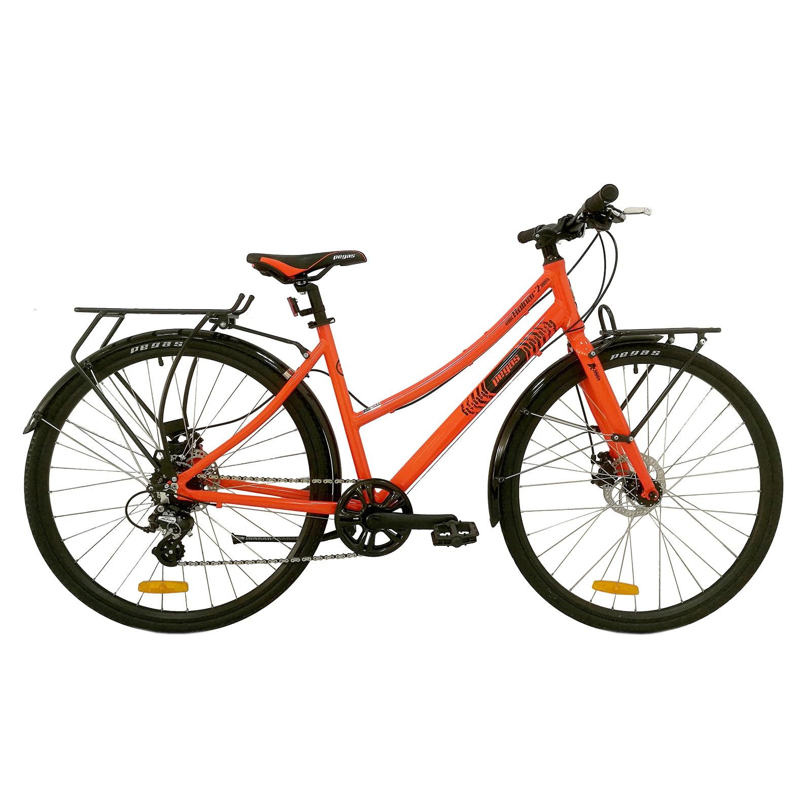 Fotografie Bicicleta Pegas Hoinar 2, 8S, Portocaliu Neon