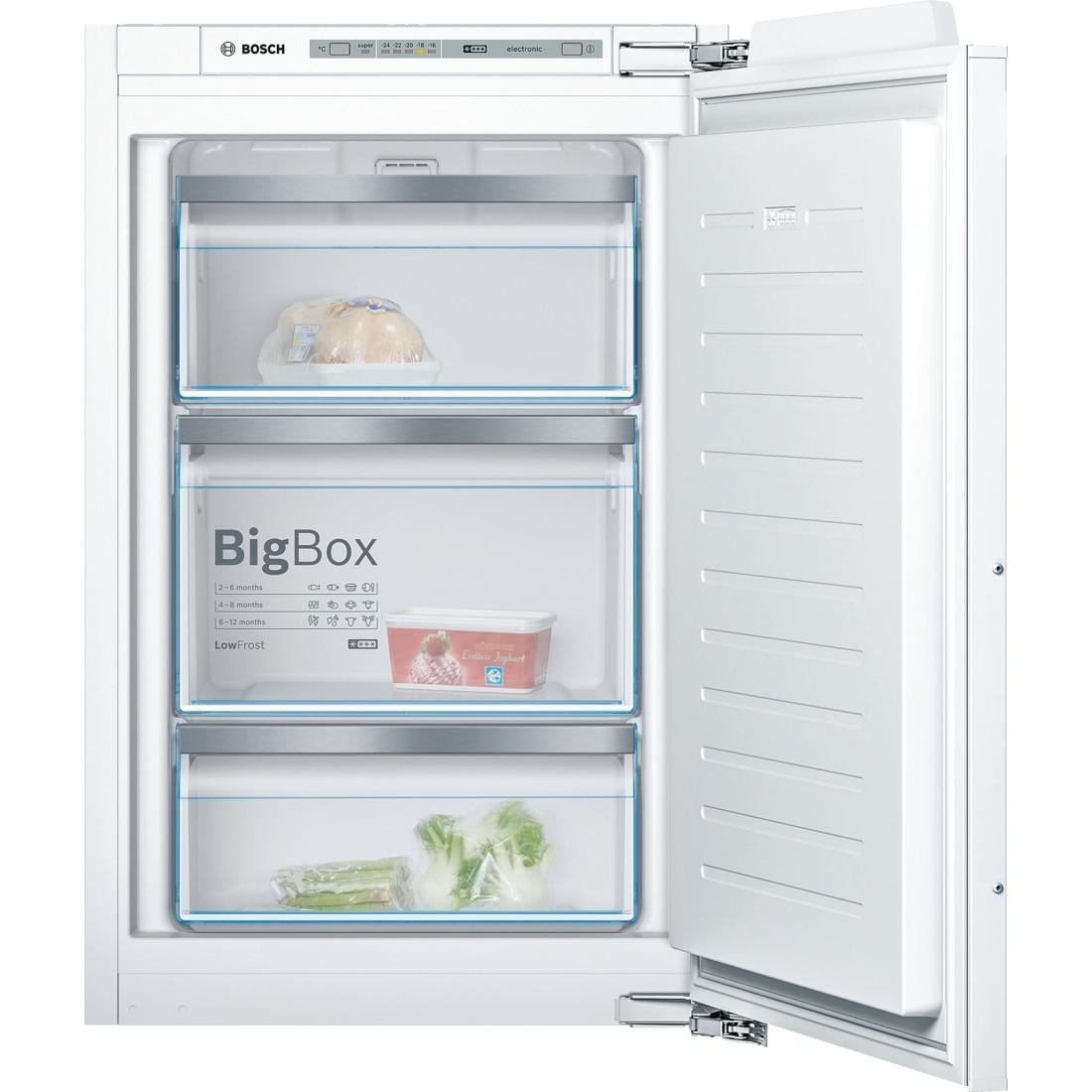 Fotografie Congelator incorporabil Bosch GIV21AF30, 97 l, 3 sertare, Clasa A++, H 87 cm