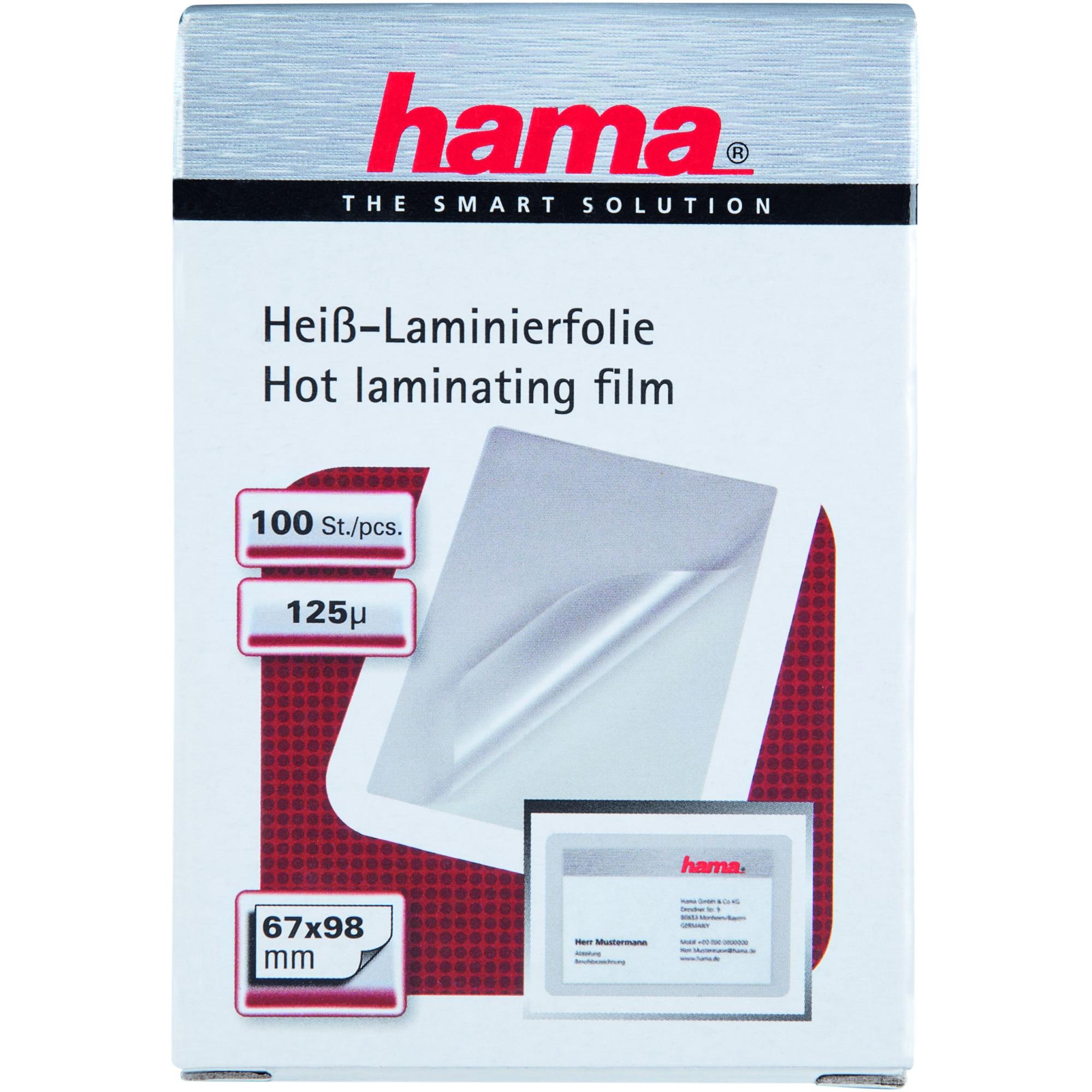Fotografie Folie de laminat carti vizita Hama 50060, 125 microni, 100 buc