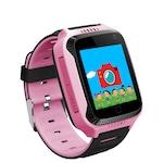 "Ceas smartwatch copii cu GPS TechONE™ Q528, cu functie telefon, ecran touchscreen 1.44"", camera foto 1.3MP, monitorizare spion, lanterna, buton SOS, roz"