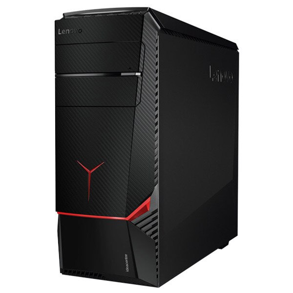 Fotografie Sistem Desktop PC Gaming Lenovo IdeaCentre Y700-34ISH cu procesor i7-7700 3.60 GHz, Kaby Lake, 16GB, 2TB + 512GB SSD, DVD-RW, nVIDIA GeForce® GTX 1070 8GB, Free DOS, Mouse + Tastatura