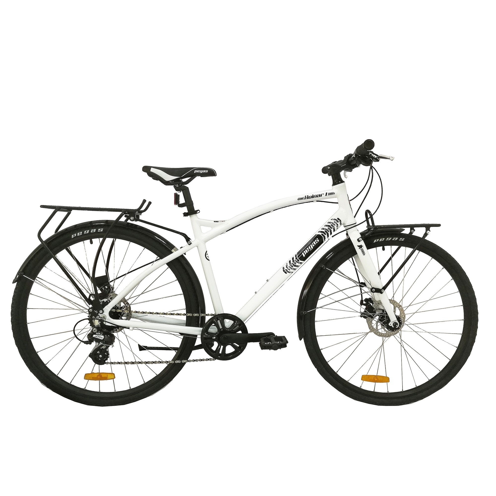 Fotografie Bicicleta Pegas Hoinar 1, 8S, Alb Perlat