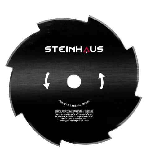 Fotografie Disc de taiere cu 8 dinti Steinhaus, grosime 1,4mm, diametru taiere 255mm, pentru motocoasa PRO-BC43