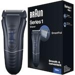 Braun Series 1 130 elektromos borotva, ultra vékony, mosható, Fekete