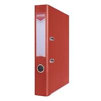 Biblioraft plastifiat OFFICE Products, 5 cm, colturi metalice, rosu