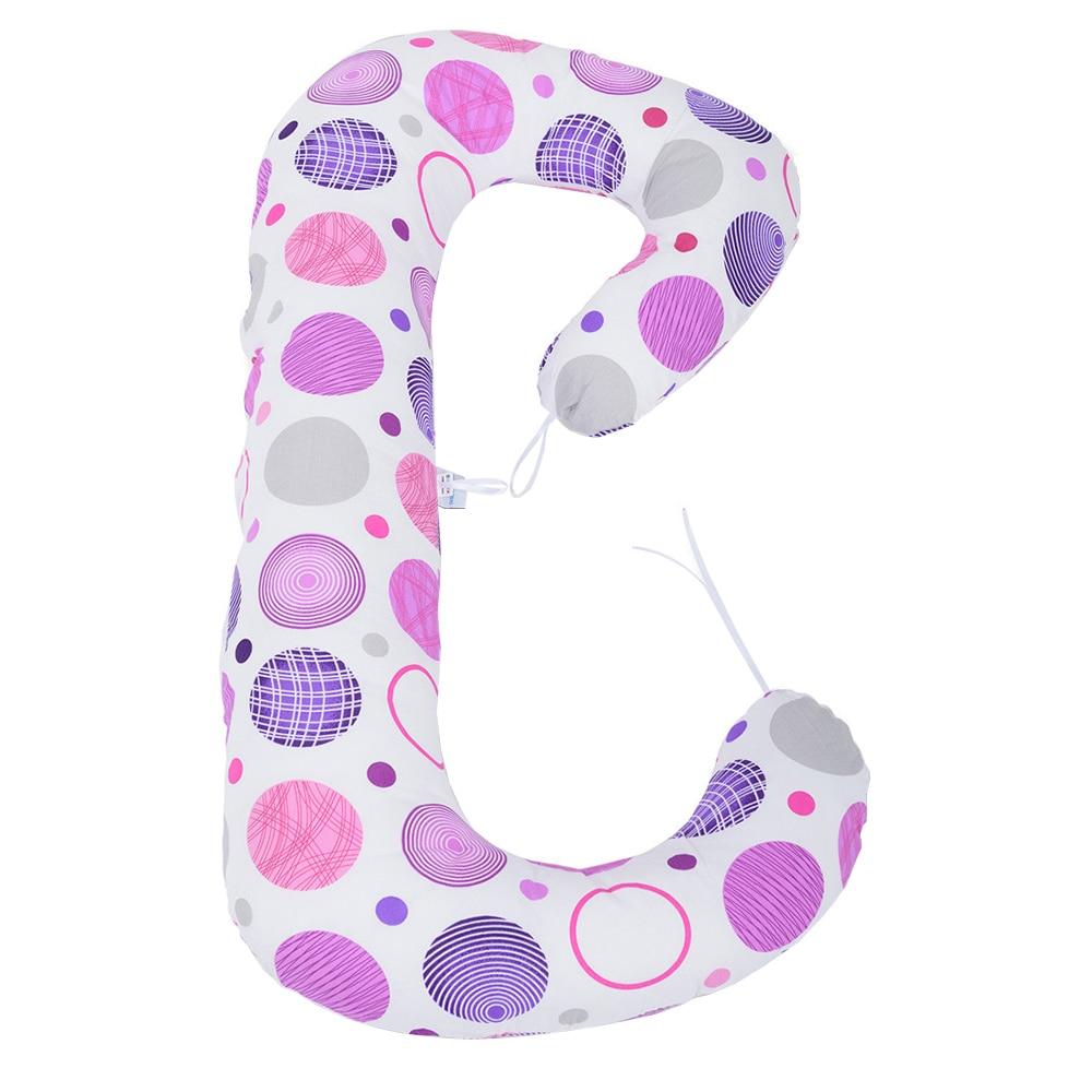 Fotografie Perna 3 in 1 de gravida si alaptat BabyNeeds Soft Plus, Cerculete Mov