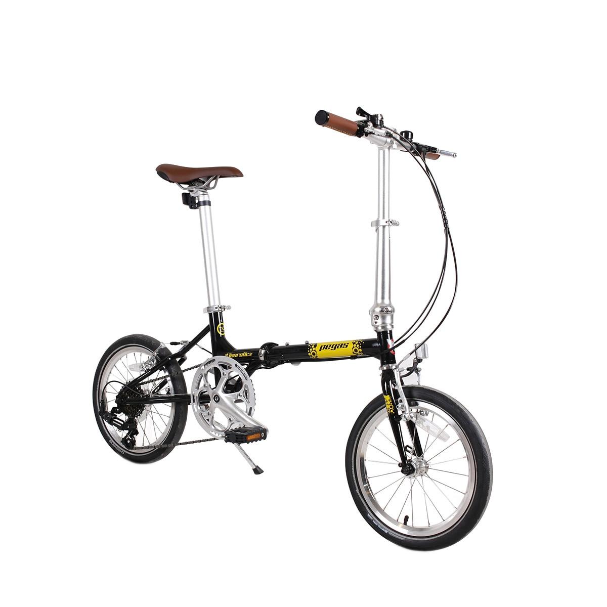 Fotografie Bicicleta Pegas Teoretic 7S, Pliabil, Negru stelar