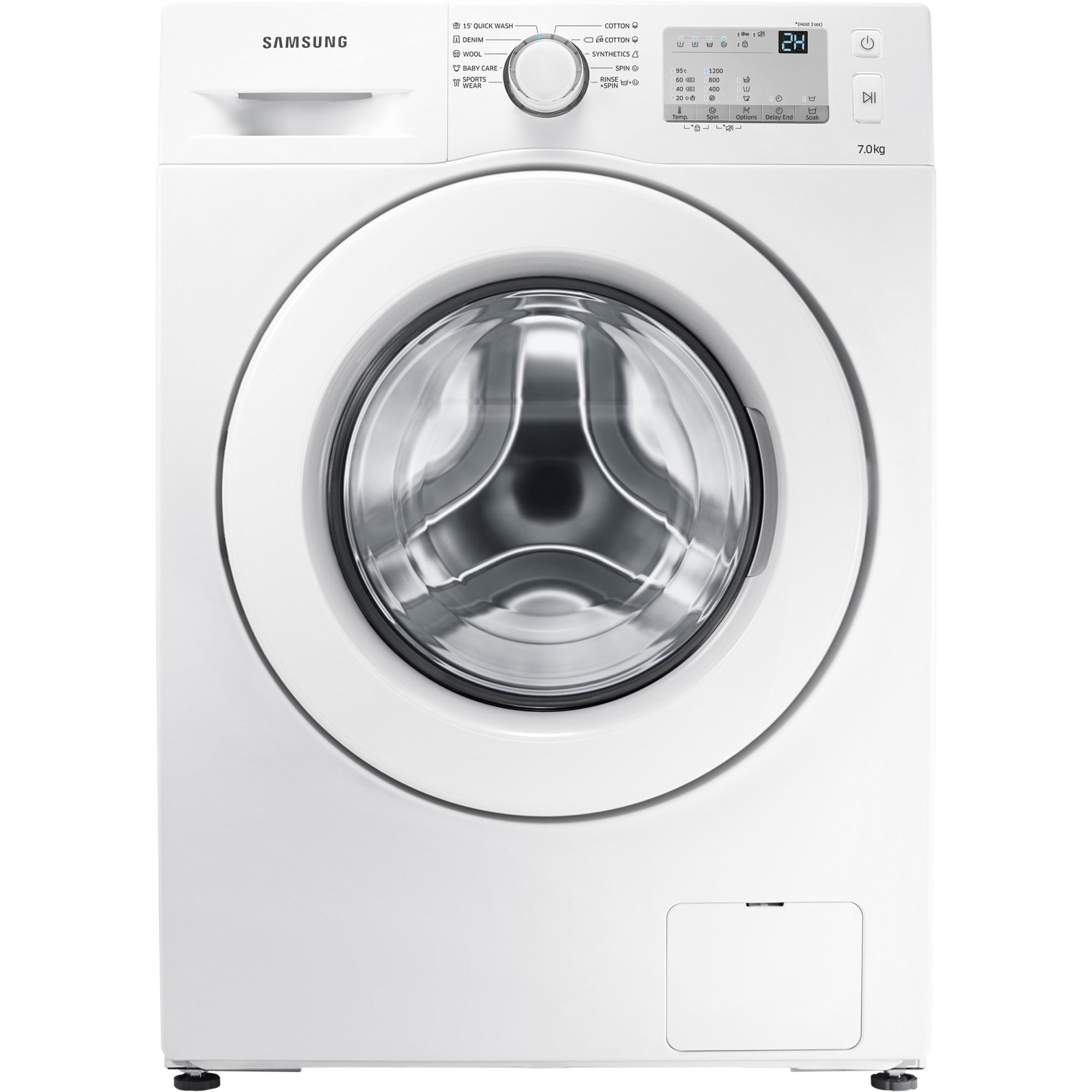 Fotografie Masina de spalat rufe Samsung WW70J3283KW/LE, 7 kg, 1200 RPM, Clasa A+++, 60 cm, Alb