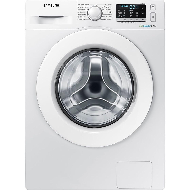 Fotografie Masina de spalat rufe Samsung WW80J5345MW/LE, 8 kg, 1200 RPM, Clasa A+++, EcoBubble, Smart Check, Alb