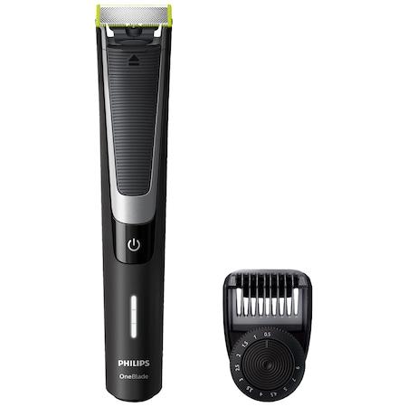 Електрическа самобръсначка Philips OneBlade Pro QP6510/20, Хибриден уред за подстригване/оформяне/бръснене на брада, Батерия