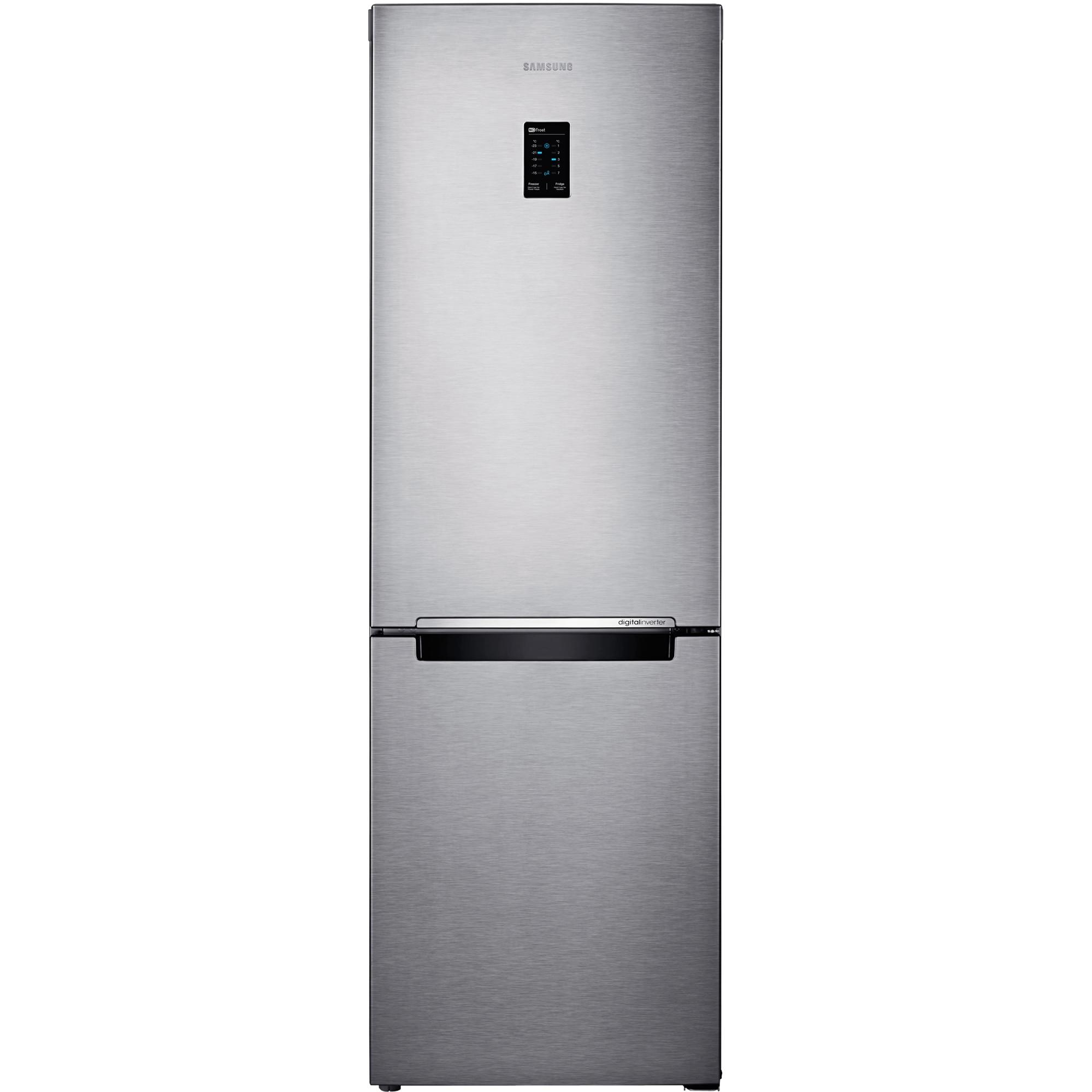 Fotografie Combina frigorifica Samsung RB31FERNDSA, 310 l, Clasa F, No Frost, Compresor Digital Inverter, H 185 cm, Argintiu