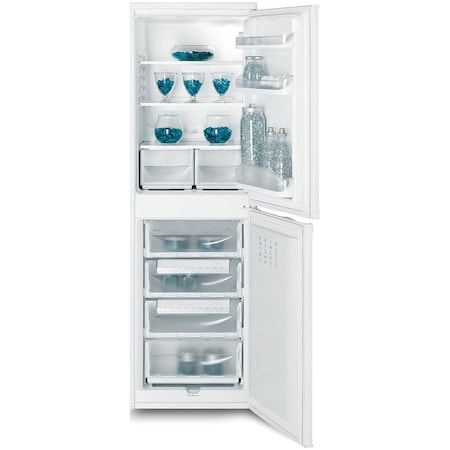 Хладилник с фризер Indesit CAA 55, 234 л, Клас F, H 174 см, Бял