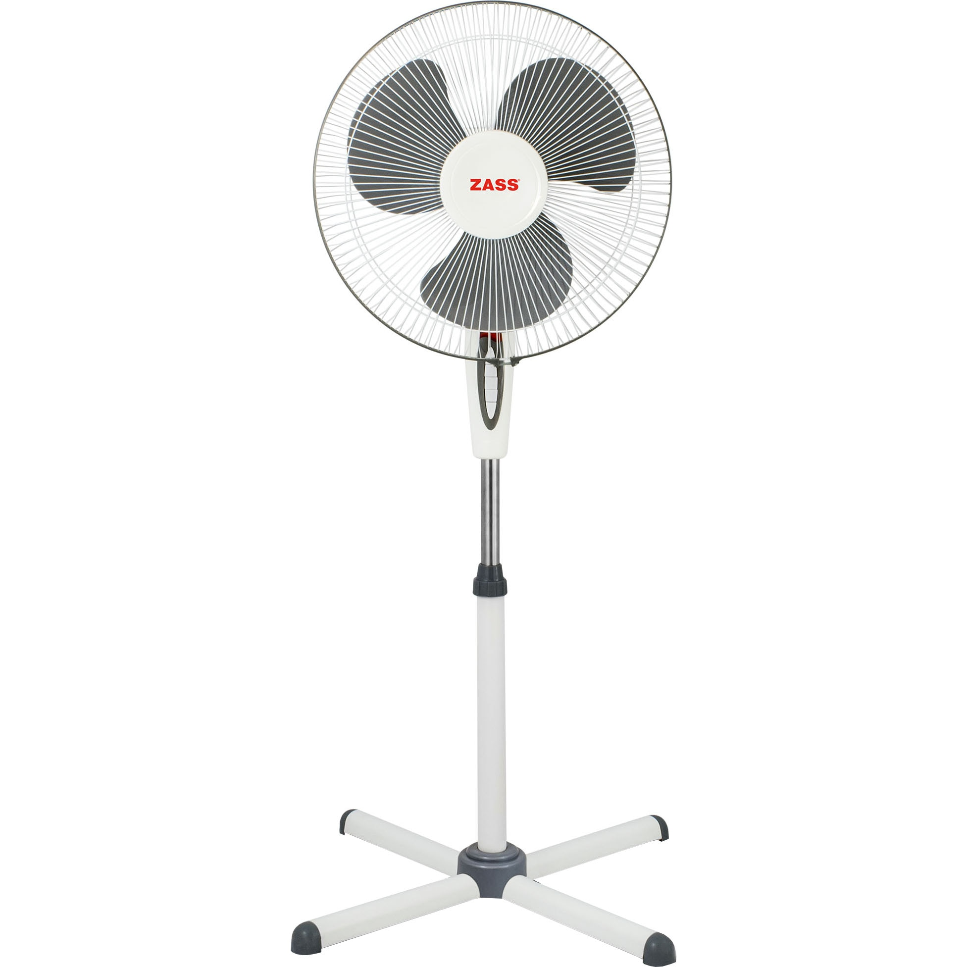 Fotografie Ventilator cu picior Zass ZF 1605, 45 W, 3 viteze, 41cm diametru, Alb