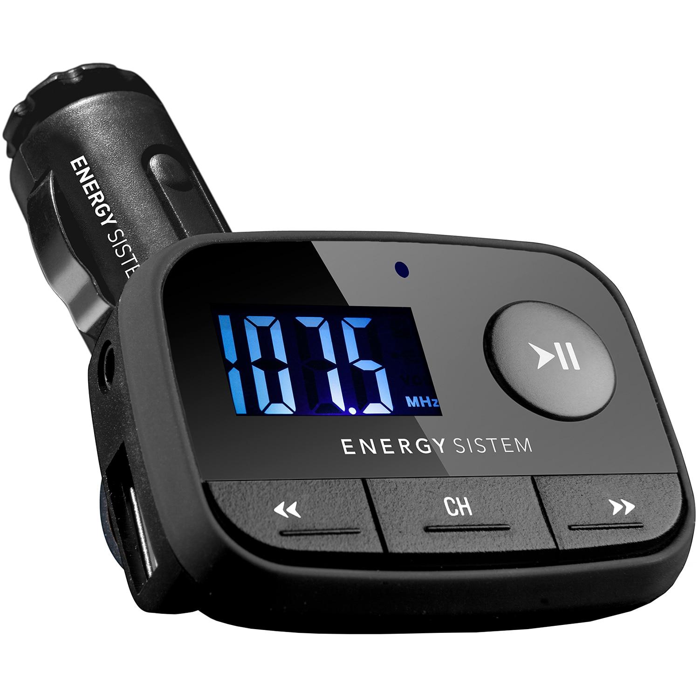 Fotografie Modulator FM Energy Sistem F2, ecran LCD, slot SDHC, USB, Negru