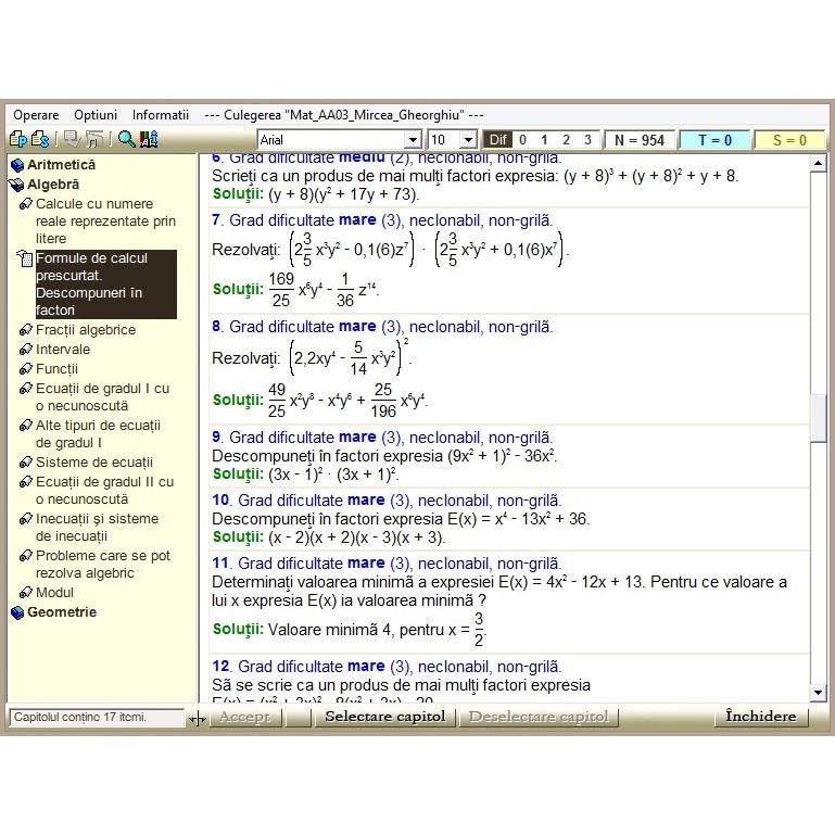 opțiuni matematică