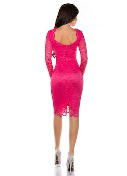 Csipke alkalmi ruha - elegáns női ruha esküvőre, Bíborvörös