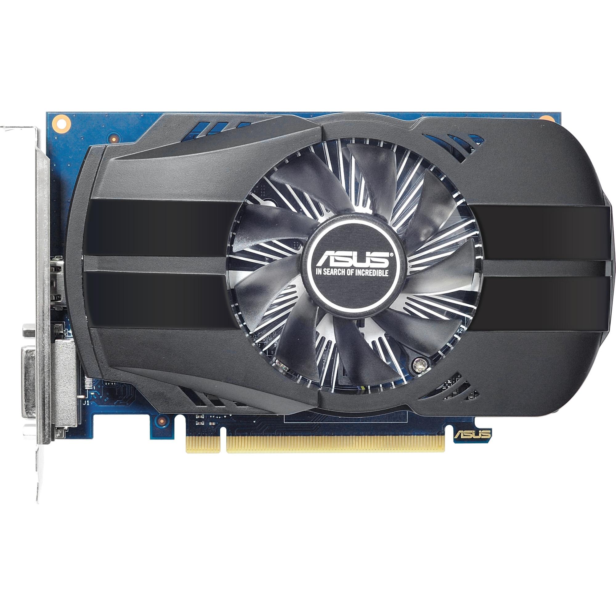 Fotografie Placa video ASUS GeForce GT1030 O2G, 2GB GDDR5, 64-bit