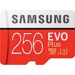 Карта памет Samsung Micro-SDXC EVO Plus 256GB, Клас 10, UHS-I U3 + SD адаптер