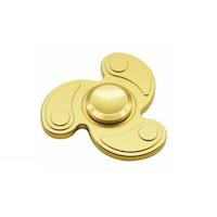 Fidget spinner - fém- propeller alakú, arany színű