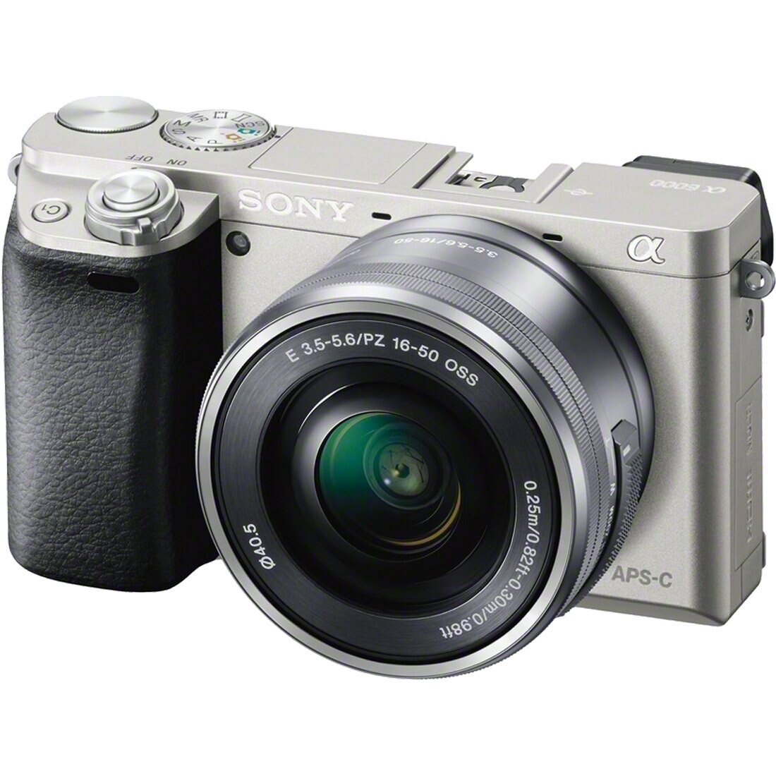 Fotografie Aparat foto Mirrorless Sony Alpha A6000 L, 24.3MP, Argintiu + Obiectiv 16-50mm