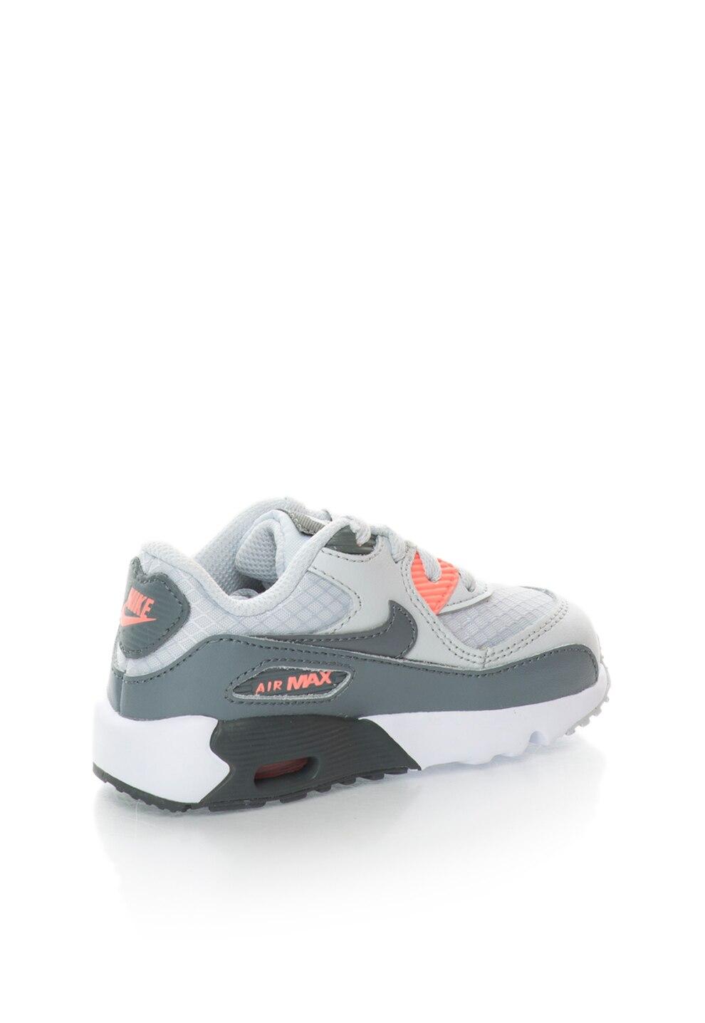 Nike Air Max 90 Szürke & Neon Korallszín Cipő 10C
