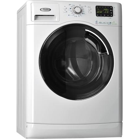 Masina de spalat rufe 6th Sense Colours Whirlpool AWOE10142, 1400 RPM, 10 kg, Clasa A+++, Display LCD, Alb