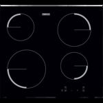 Zanussi ZEV6240FBA Beépíthető kerámia főzőlap, 60cm, 4 főzőzóna, TouchControl, Fekete
