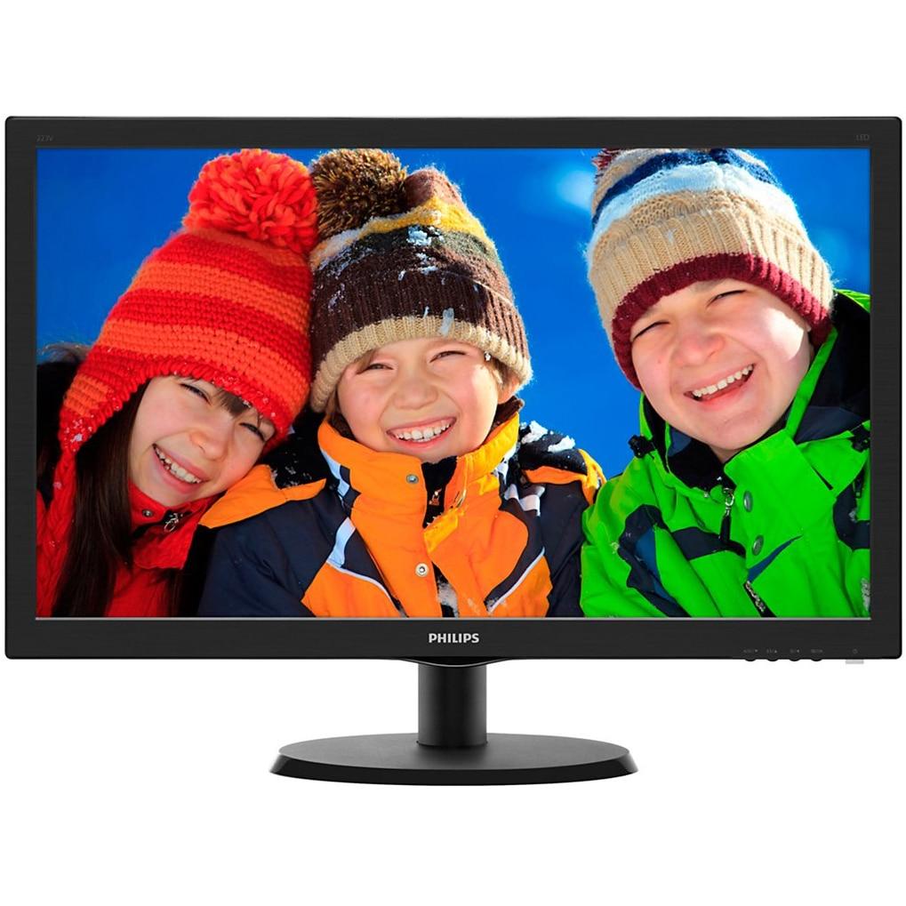 "Fotografie Monitor LED Philips 21.5"", Wide, Full HD, Negru Lucios, 223V5LSB2/10"
