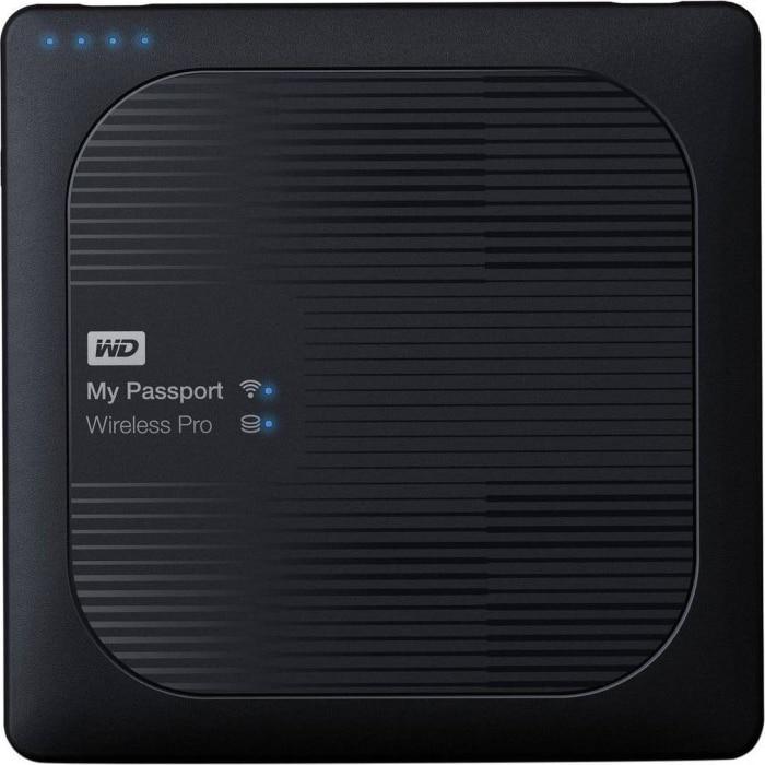 Fotografie HDD Extern WD My Passport Wireless PRO 2TB, USB3.0, Wi-Fi, SD card reader, Negru