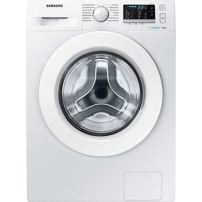 Fotografie Masina de spalat rufe Samsung Eco Bubble WW70J5345MW/LE, 7 kg, 1200 rpm, Clasa A+++, Alb