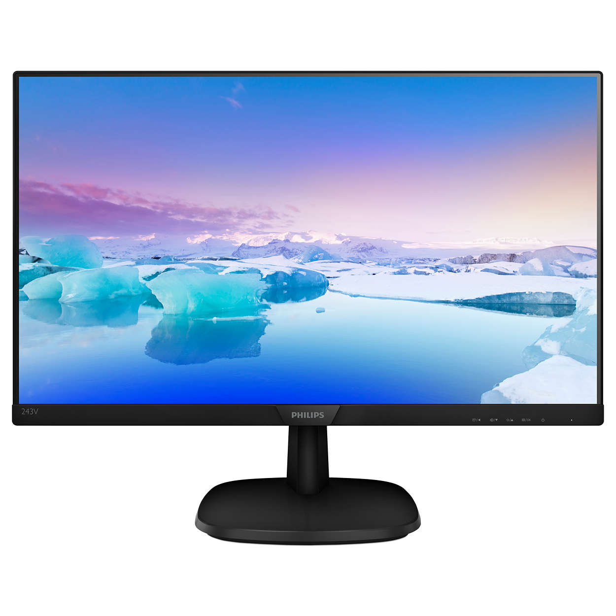 "Fotografie Monitor LED IPS Philips 23.8"", Full HD, VGA, DVI, Negru, 243V7QSB"