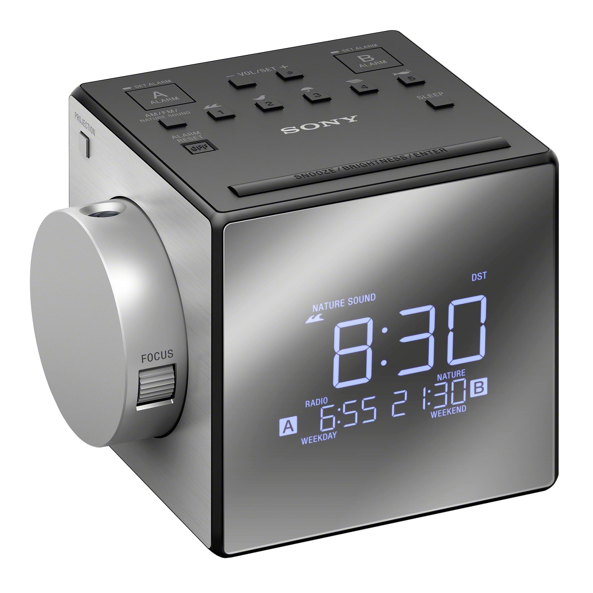Fotografie Radio cu ceas Sony ICFC1PJ, cu proiectie si alarma, Negru