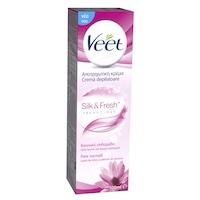 Crema depilatoare Veet Silk & Fresh pentru piele normala, 100 ml