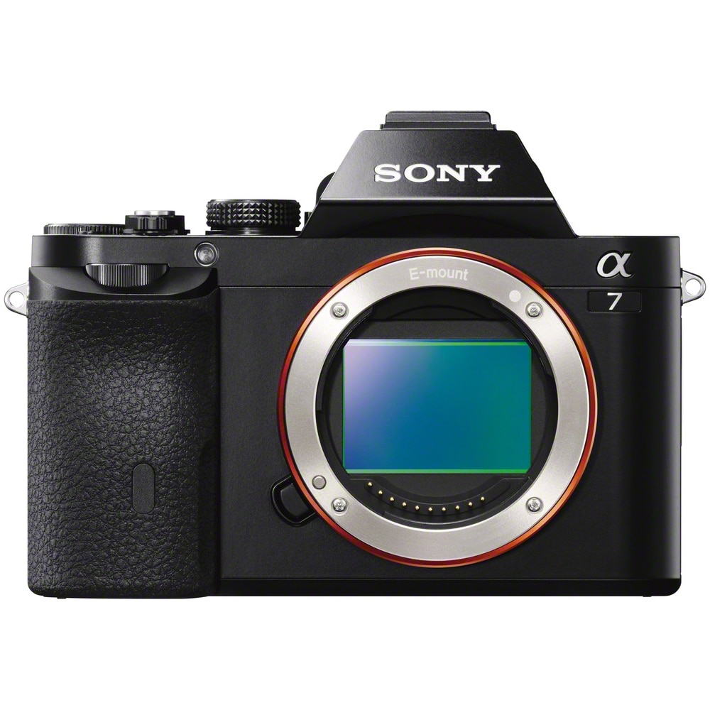 Fotografie Aparat foto Mirrorless Sony Alpha A7 Body, 24.3 MP, Full-Frame, Wi-Fi, NFC, E-Mount, Negru