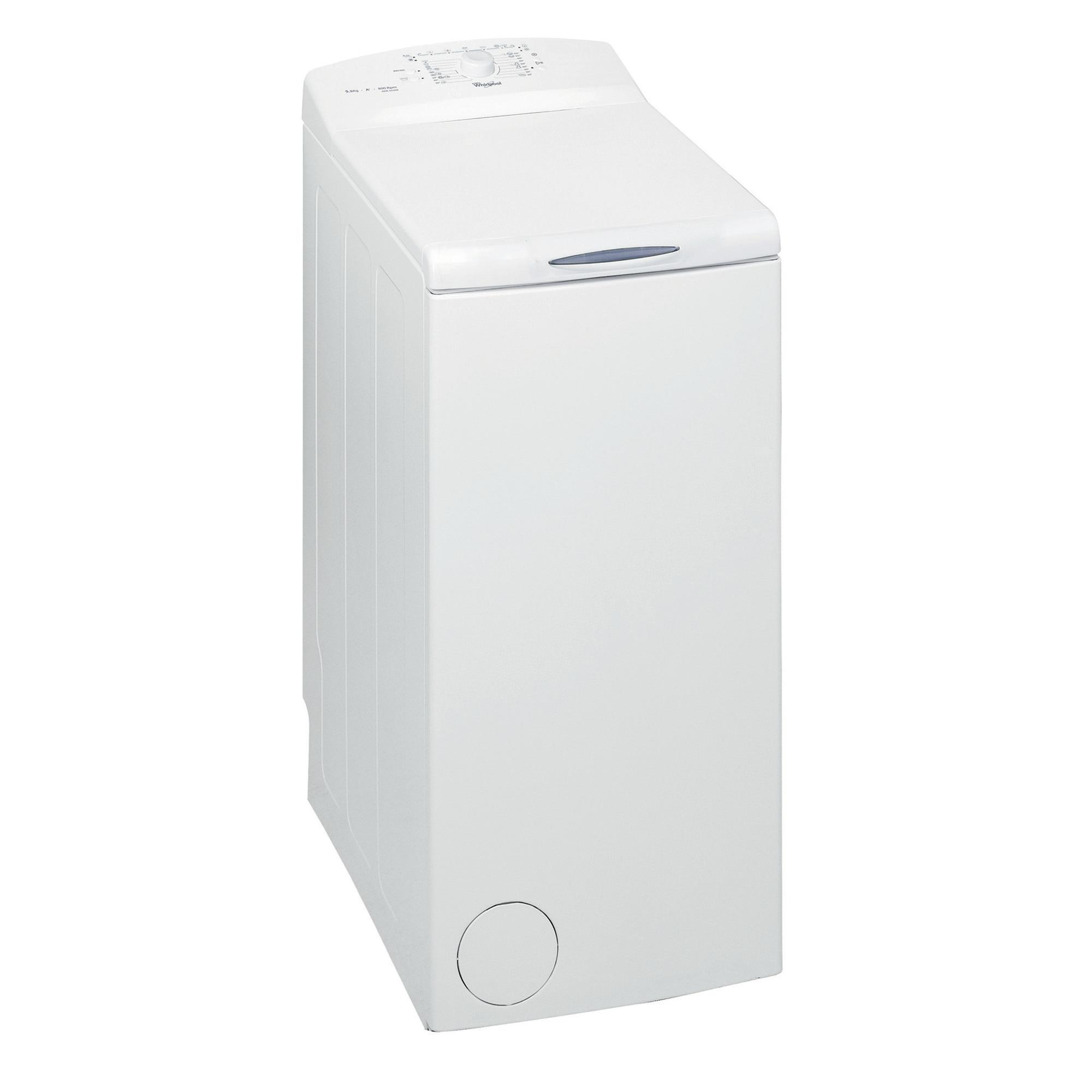 Fotografie Masina de spalat rufe cu incarcare verticala Whirlpool AWE 55208, 5.5 kg, 800 RPM, Display LED, Clasa A+, Alb