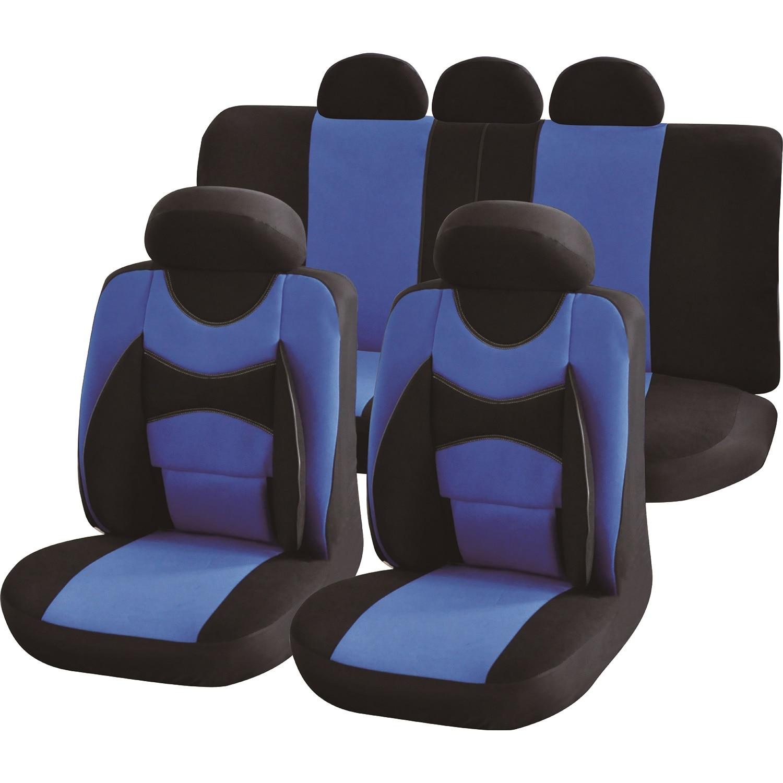 Fotografie Set huse auto Procar Confort, 11 Piese, Albastru