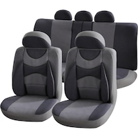 Комплект калъфи за седалки Interio Confort, 11 броя, Сиви