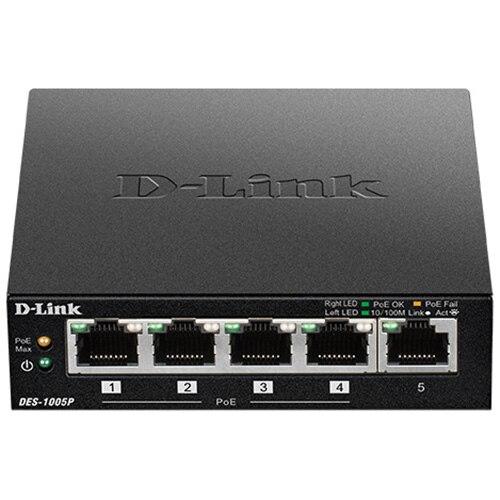 Fotografie Switch D-Link DES-1005P, 5 x 10/100Mbps