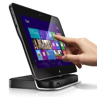 "Таблет 2 in 1 Dell Latitude 10 ST2, двуядрен Intel® Atom™ Z2760 1.80 GHz, 10.8"" (27.43cm) сензорен мулти-тъч Display Corning®Gorilla® glass, 2GB RAM, 64GB SSD, 2Mpix & 8.0Mpix camera, Wi-Fi 802.11a/b/g/n, bluetooth, Windows 8 Pro, Black"