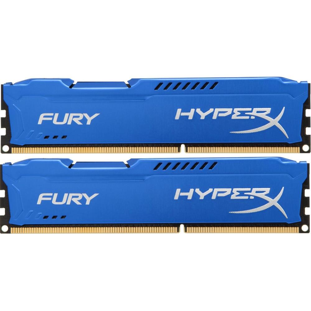 Fotografie Memorie HyperX FURY Blue 16GB, DDR3, 1866MHz, CL10, 1.5V, kit 2x8GB