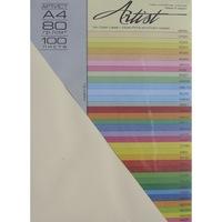 Копирна хартия Artist Color А4 80g, 4х25л. пастел, оп. 5