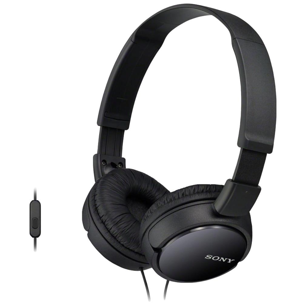Fotografie Casti audio Sony MDRZX110APB, tip DJ cu control telefon, negru