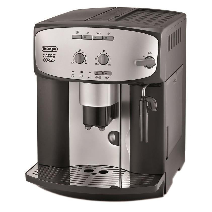 Fotografie Espressor automat De'Longhi Caffe Corso ESAM2800, Dispozitiv spumare, Functie Cappuccino, Rasnita, Autocuratare, 15 Bar, 1.8 l, Negru/Inox