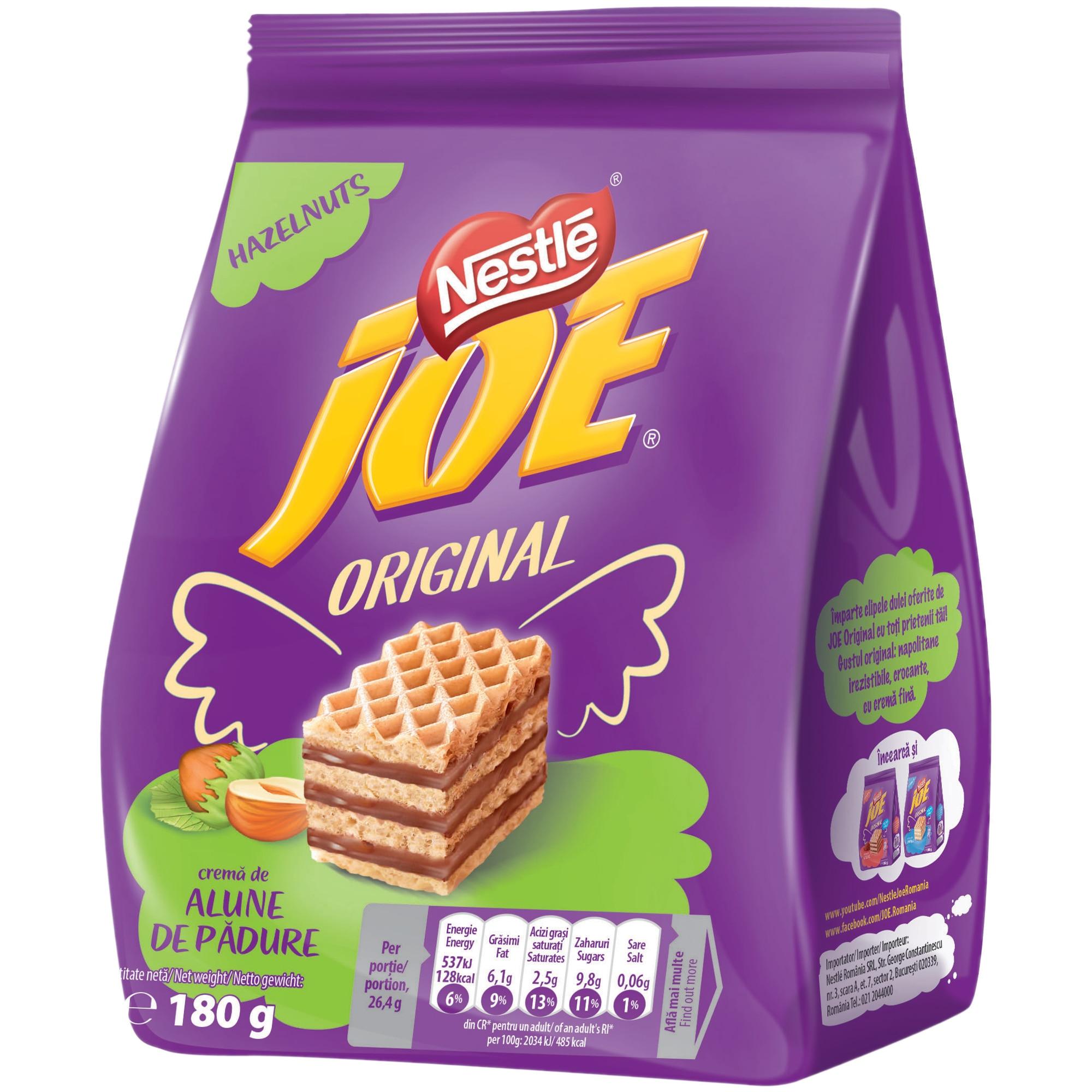 Napolitane cu crema de alune 180g Joe - eMAG.ro