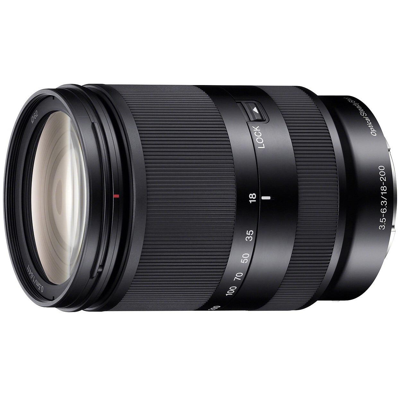 Fotografie Obiectiv Sony, montura E, 18–200 mm, F3.5–6.3 OSS LE, Negru