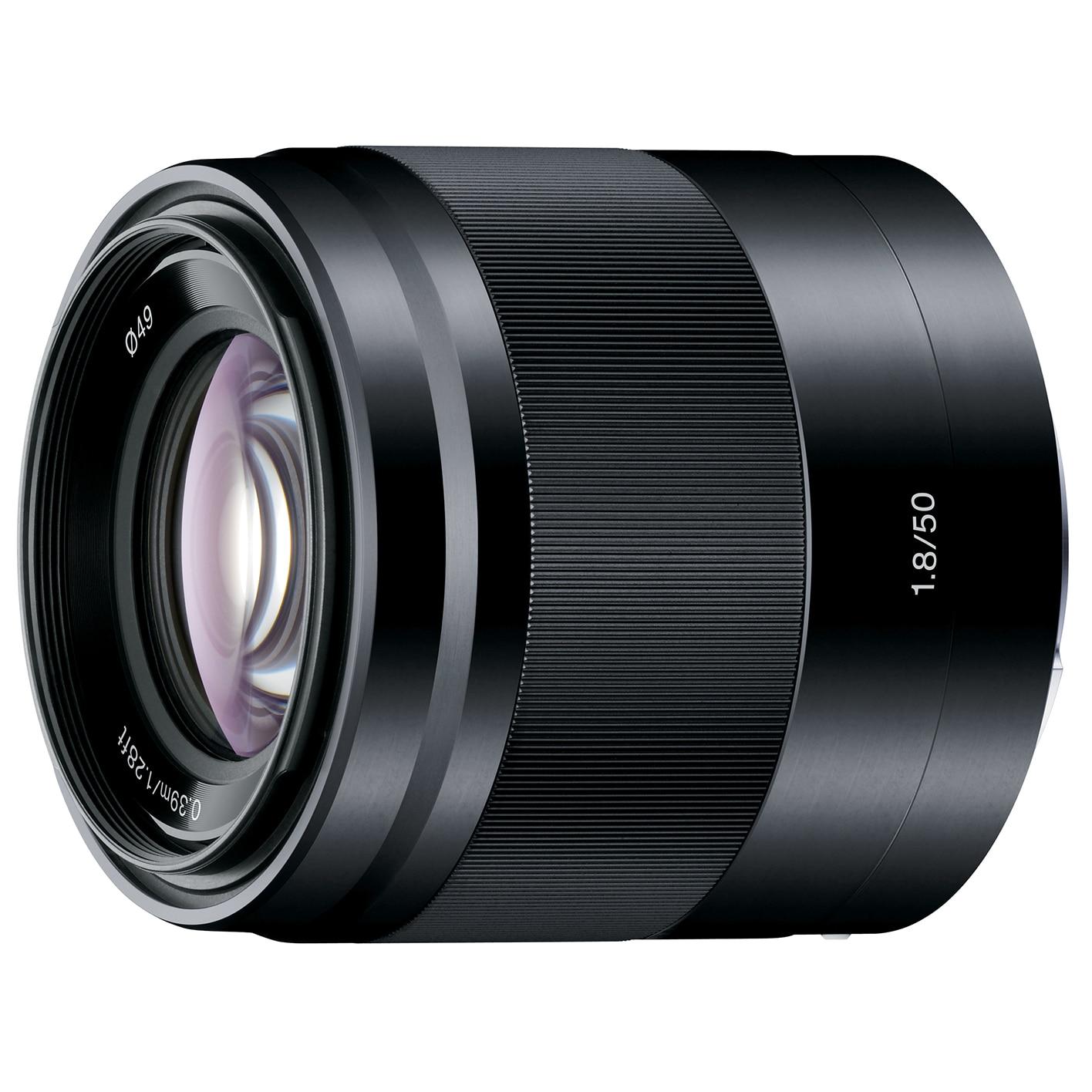 Fotografie Obiectiv Sony, montura E, 50mm, f1.8 OSS, Negru